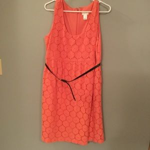 Maternity lace flower dress in coral!
